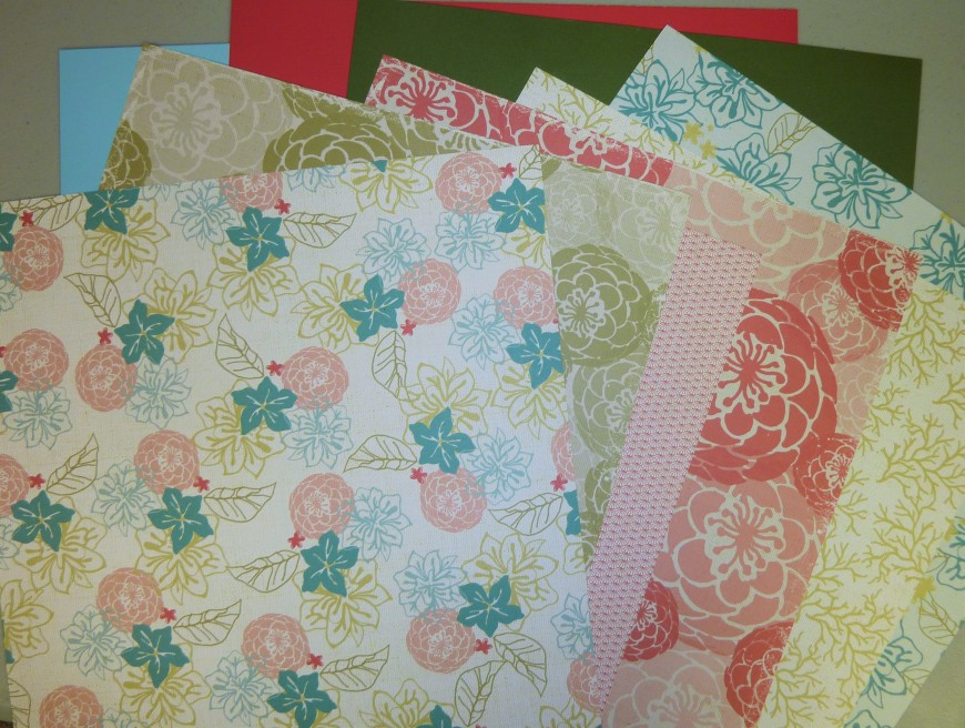 One each CM Sunshine Getaway Papers and three sheets of designer cardstock