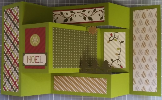 Laid out Noel card