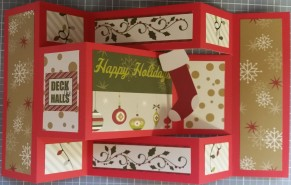 Laid Out Deck the Halls card