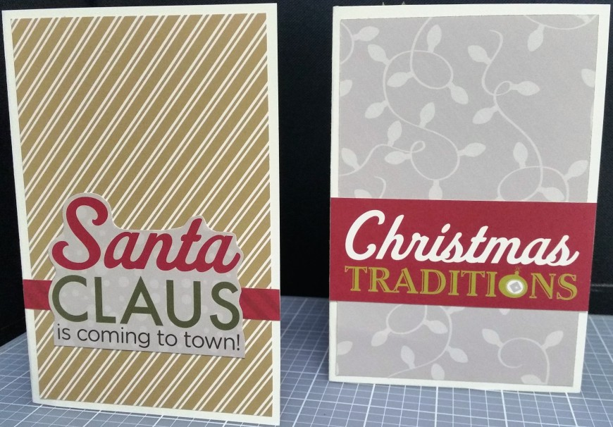Front of the Santa Claus and Christmas Traditions cards