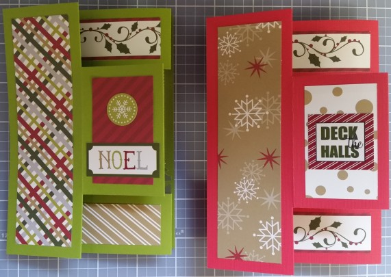 Front of Noel and Deck the Halls pop-up cards