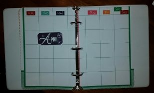 Days on a calendar, Sat/Sun sharing one column