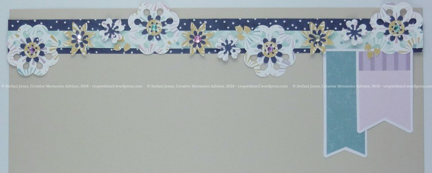 Flower border on beige c