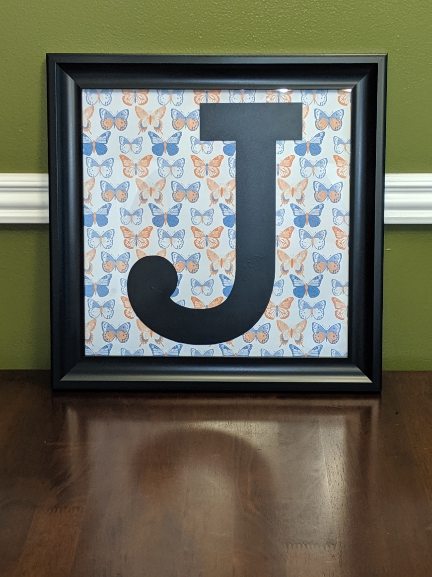 Completed Vinyl Monogram project